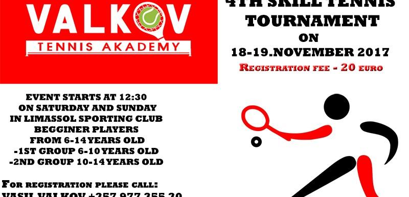 4th Skill Tennis Tournament Limassol