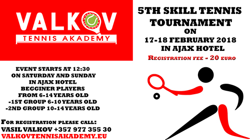 5th skill tennis tournament Limassol 17 -18 february